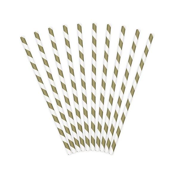 trinkhalme-papier-gold-gestreift