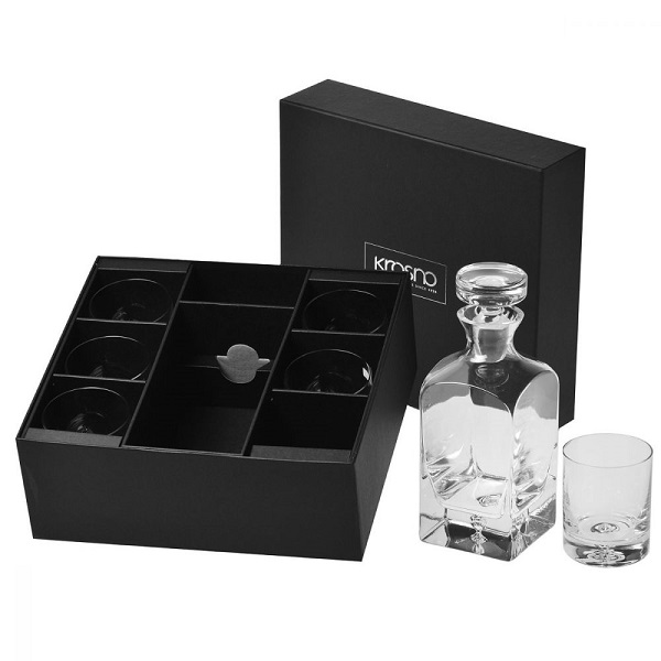 "Whisky Set ""Legend"" Karaffe 750 ml + 6 Tumbler"